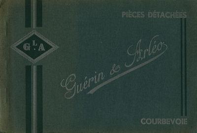 De Dion-Bouton Ersatzteilliste 1900