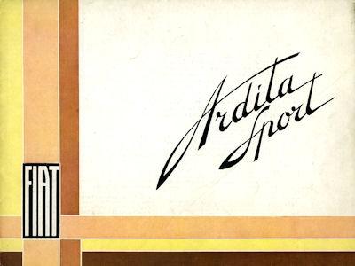 Fiat Ardita Sport Prospekt ca. 1933 sp