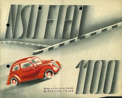 NSU-Fiat 1100 Prospekt 1937