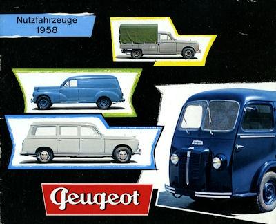 Peugeot Klein-Lkw Programm 1958