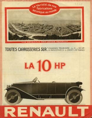 Renault 10 PS Prospekt 1923 f