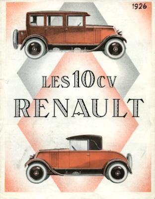 Renault 10 PS Prospekt 1926 f