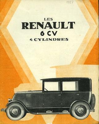 Renault 6 PS Prospekt 1927 f
