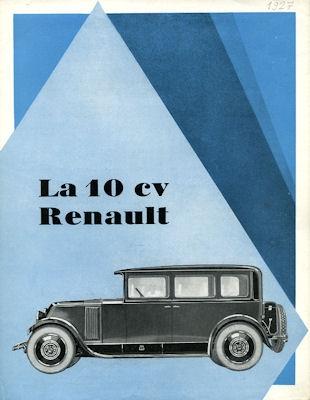 Renault 10 PS Prospekt 1927 f