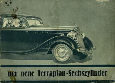 Terraplan 6 Zylinder Prospekt 1930er Jahre