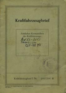 Normag-Zorge NG 16 Original Fahrzeugbrief 1951