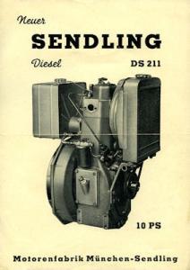 Sendling Diesel Motor DS 211 Prospekt 1960er Jahre