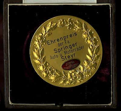 Plakette Ehrenpreis der Fa. Springer 1950er Jahre