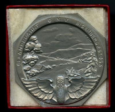 Plakette Geländefahrt Bisamberg 1953