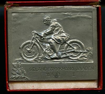 Plakette Geländegymkhana Gaaden 1953