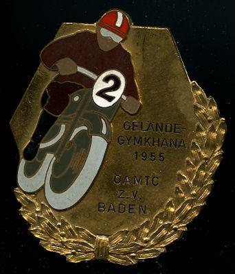 Plakette Gymkhana Baden 1955