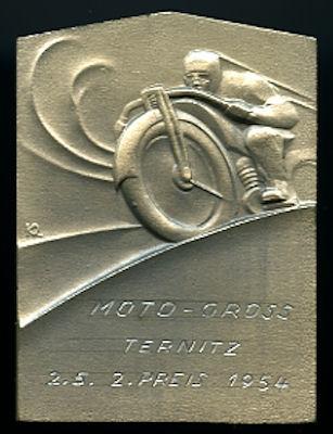 Plakette Moto Cross Ternitz 2.Preis 1954