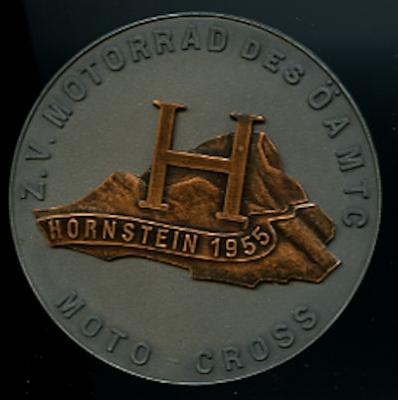 Plakette Moto Cross Hornstein 1955