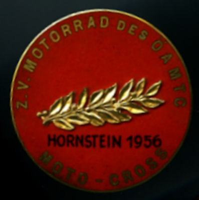 Plakette Moto Cross Hornstein 1956