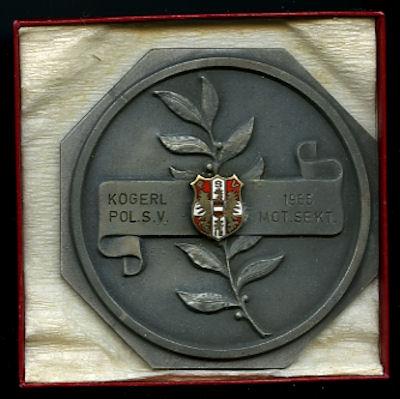 Plakette Kögerl Pol. S.V. 1955