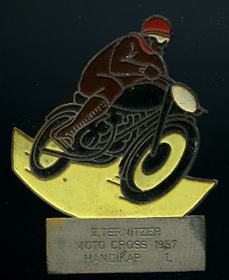 Plakette 2.Ternitzer Moto Cross 1957