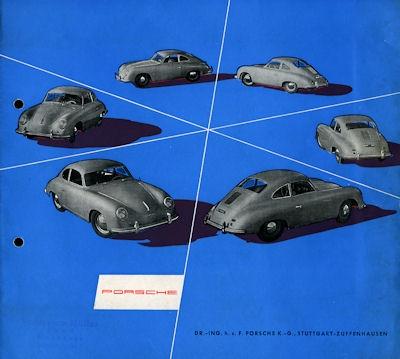 Porsche 356 Prospekt 10.1954