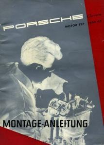 Porsche 356 Motor Typ 1500 GS Montage-Anleitung 10.1956