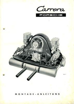 Porsche 356 Motor Typ 1500 GS Montage-Anleitung 10.1956 1