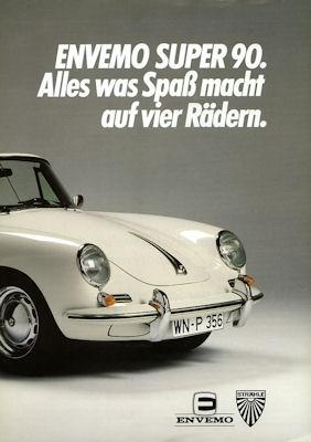 Envemo Replika-Porsche 356 C Super 90 Prospekt 1980er Jahre