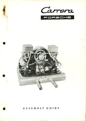 Porsche Carrera Motor Typ 1500 1600 2000 GS Montage-Anleitung 10.1962