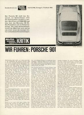 Porsche 901 Test 1964