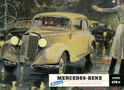 Mercedes-Benz 170 D Prospekt 1952 f