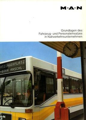 MAN Fahrzeug- und Personaleinsatz Broschüre 1980