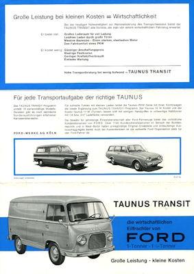 Ford Taunus Transit 1000 / 1250 Prospekt 1960er Jahre