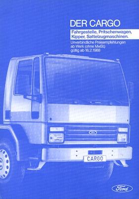 Ford Cargo Preisliste 1988