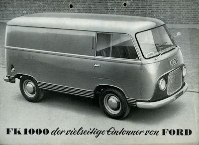 Ford FK 1000 Prospekt ca. 1954