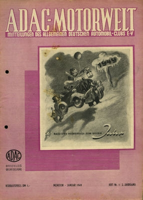 ADAC Motorwelt 1949 Heft 1