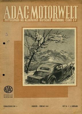 ADAC Motorwelt 1949 Heft 2