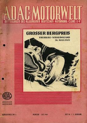 ADAC Motorwelt 1949 Heft 7