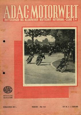 ADAC Motorwelt 1949 Heft 5