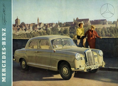 Mercedes-Benz 180 D Prospekt 1954 sp