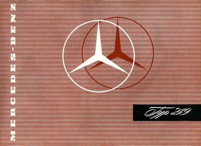 Mercedes-Benz 219 Prospekt ca. 1957