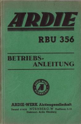Ardie RBU 356 Bedienungsanleitung 1936