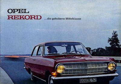 Opel Rekord A Prospekt 12.1964