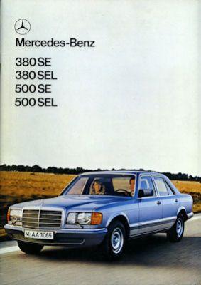 Mercedes-Benz 380 SE SEL 500 SE SEL Prospekt 1980