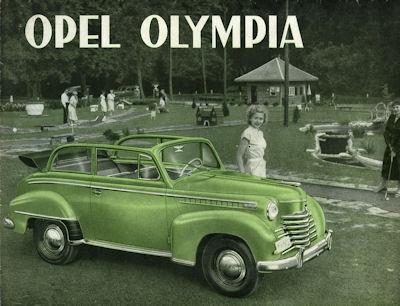Opel Olympia Prospekt ca. 1952 f