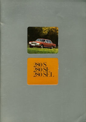 Mercedes-Benz 280 S SE SEL Prospekt 1.1976