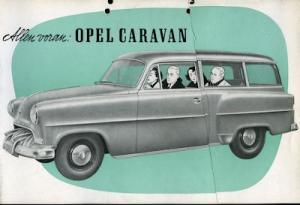 Opel Olympia Rekord Caravan Prospekt 1953