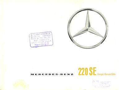 Mercedes-Benz 220 SE Coupé / Convertible Prospekt 1963 e
