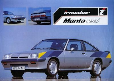 Opel Manta Irmscher Prospekt 1982