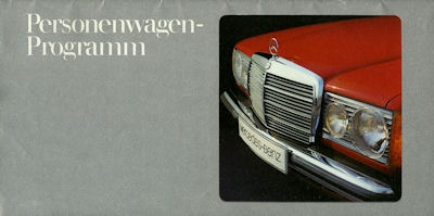 Mercedes-Benz Programm 1977