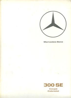Mercedes-Benz 300 SE Coupé und Cabriolet Prospekt 8.1965