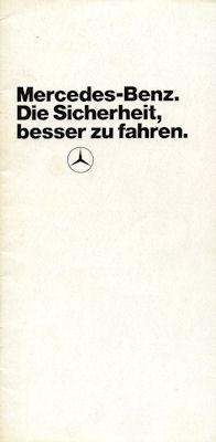 Mercedes-Benz Sicherheit Prospekt 6.1975