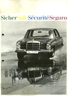 Mercedes-Benz Sicherheit Prospekt 7.1967