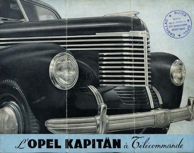 Opel Kapitän Prospekt ca. 1950 f